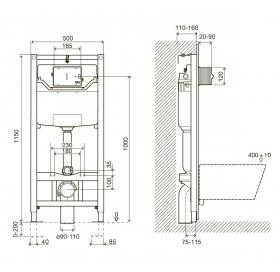 Комплект инсталляции Imprese 3в1, i8109