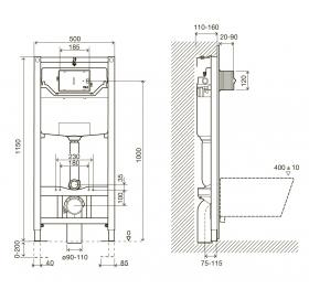 Инсталляция IMPRESE i9120 OLIpure + панель смыва Pani хром