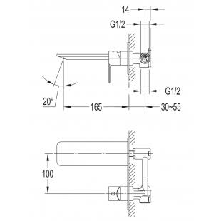 Смеситель для раковины IMPRESE Smart Click ZMK101901030