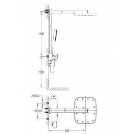 Душевой гарнитур IMPRESE Smart Click ZMK101901090