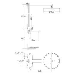 Душевая система с термостатом IMPRESE Smart Click ZMK101901091