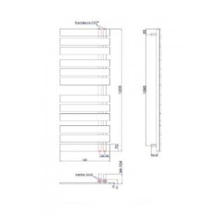 Полотенцесушитель водяной/электрический Instal Projekt NAMELESS, белый, Nam-50/120W