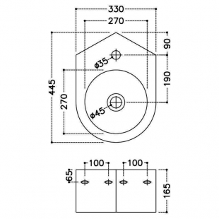 Раковина угловая Jaquar JDS 35x45,5 см, JDS-WHT-25841