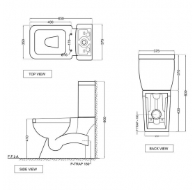 Чаша напольного унитаза Jaquar Aria, с сиденьем полипропилен, ARS-WHT-39751P