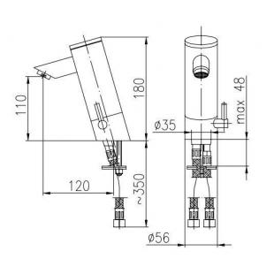 Сенсорный Смеситель для раковины ARMATURA Special 592-110-00