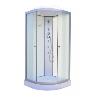 Гидробокс без электроники на мелком поддоне 900*900*2150 мм, белый, VE90x90W