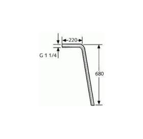Напольная труба 90° DN 32  84500805-00