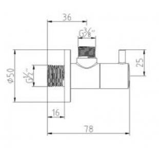 Угловой вентиль KLUDI 3/8 DN 15 1584505-00