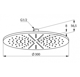 Верхний душ KLUDI A-QA (6433087-00) черный матовый/хром