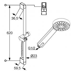 Душевой гарнитур KLUDI A-QA (6563005-00)