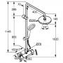 Душевая система с термостатом KLUDI A-QA DUAL (6609505-00)