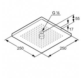 Верхний душ KLUDI A-QA (6654105-00)