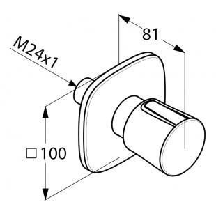 Вентиль KLUDI AMBIENTA (538460575) на 3 положения