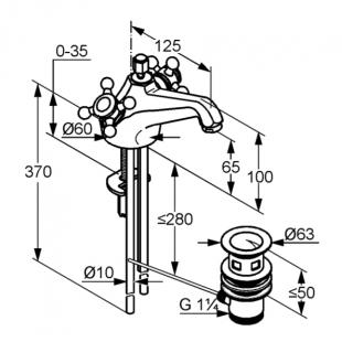 Смеситель для умывальника KLUDI ADLON (510124520)