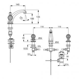 Смеситель для умывальника KLUDI ADLON (5104345G4)