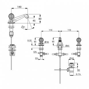 Смеситель для умывальника KLUDI ADLON (5104605G5)