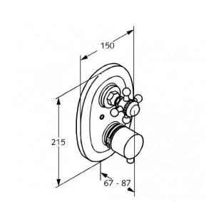 Термостат встраиваемый KLUDI ADLON (517204520)