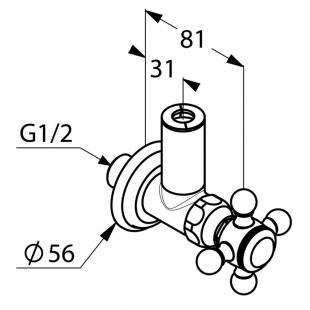Угловой вентиль KLUDI ADLON (518430520)