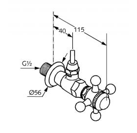 Боковой вентиль KLUDI ADLON (518434520)