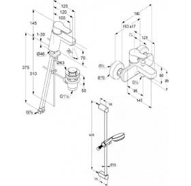 Набор смесителей KLUDI Pure&Easy (376850565)