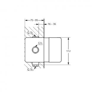 Скрытая часть смесителя Kludi Pure&Easy (38636)