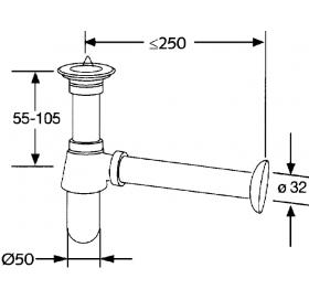 Сифон для умывальника Kludi Ideal (1011105-00)
