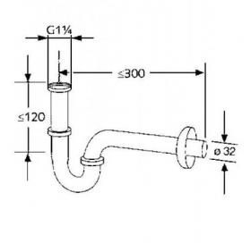 Сифон для умывальника Kludi Ideal (1026505-00)