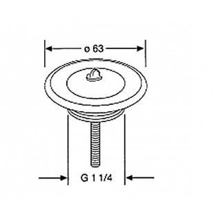 Универсальный сливной вентиль для умывальника Kludi сталь, никель-хром 1041135-00