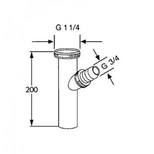 Сифон KLUDI Bad Sifone с подсоединением для шланга стиральной машины 1046205-00