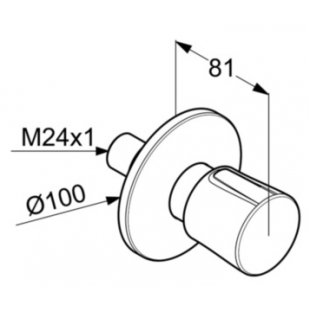 Вентиль KLUDI BALANCE (528468775) на 3 положения черный матовый