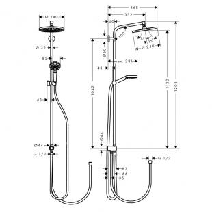 Душевая система Hansgrohe Crometta S 240 душевая система 27270000