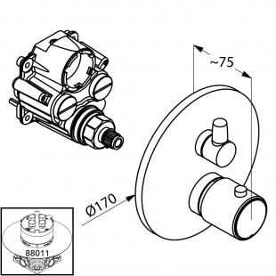 Термостат встраиваемый KLUDI ZENTA (388350545)