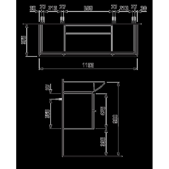Тумба для раковины Laufen PALACE 120 см, белый