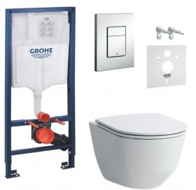 Комплект: Инсталляционная система Grohe Rapid SL 38772001 + подвесной унитаз Laufen Pro с крышкой, H8669570000001