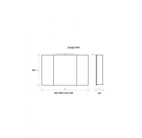 Зеркальный шкаф 110 см MARSAN THERESE-4