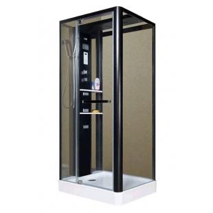 Гидробокс MIRACLE 90x110, профиль чёрный, NA113-3A