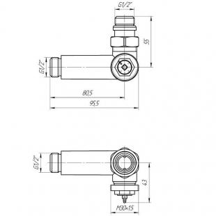 Комплект кранов  G1/2 с термоголовкой Mario