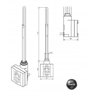 Нагревательный элемент TERMA КТХ 600W
