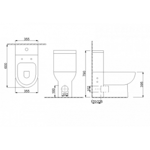 Унитаз-компакт Newarc Modern 3822B + сидение Duroplast SoftClose