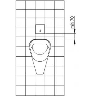 Панель смыва для писсуара Oras Electra внешняя часть 12V 6507C