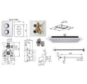 Термостатический душевой набор скрытого монтажа Oras Optima 7139