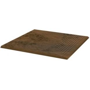 Ступень угловая рельефная Paradyz Semir beige 30x30 PRZ03117
