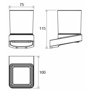 Стакан для зубных щеток с держателем Ravak 10°, X07P321