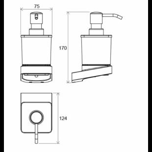Дозатор для жидкого мыла Ravak 10°, X07P323