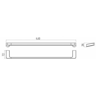 Полотенцедержатель Ravak 10°, X07P325
