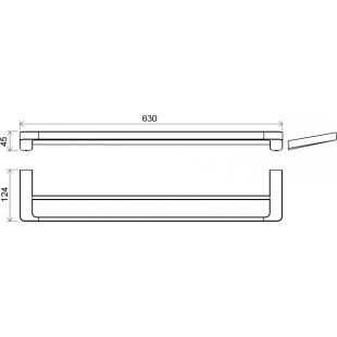 Двойной полотенцедержатель Ravak 10°, X07P326