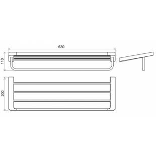 Полка для полотенец с держателем Ravak 10°, X07P327