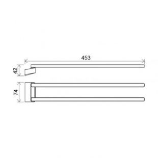 Двойной полотенцедержатель Ravak 10°, поворотный, X07P328