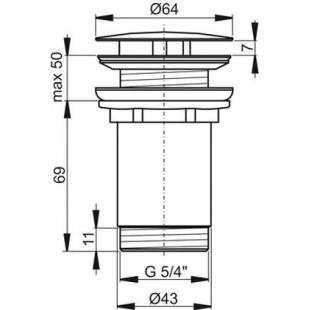Слив для умывальника хром, X01439