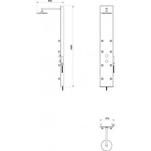 Гидромассажная панель Ravak Jet Glass, X01452